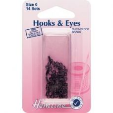 Hook and Eyes: Black - Size 0